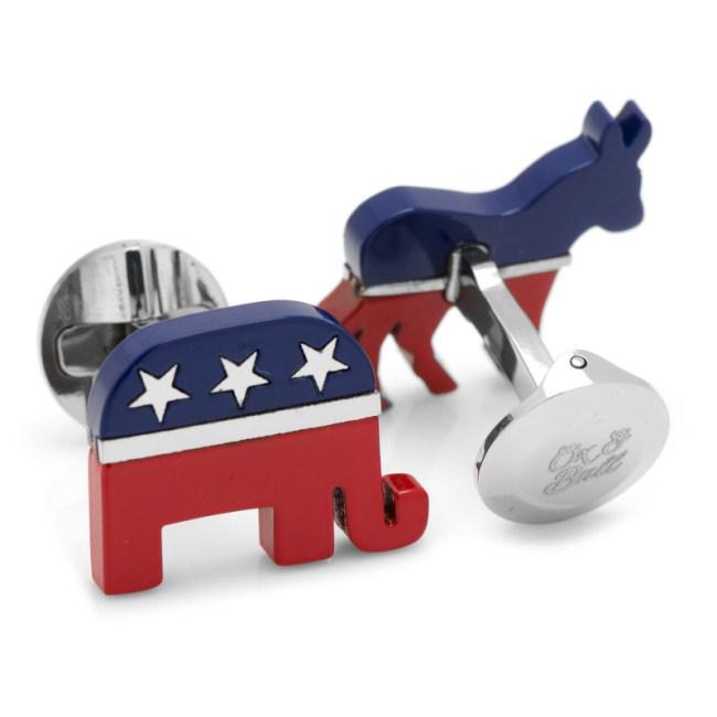 Stainless Steel Bipartisan Cufflinks