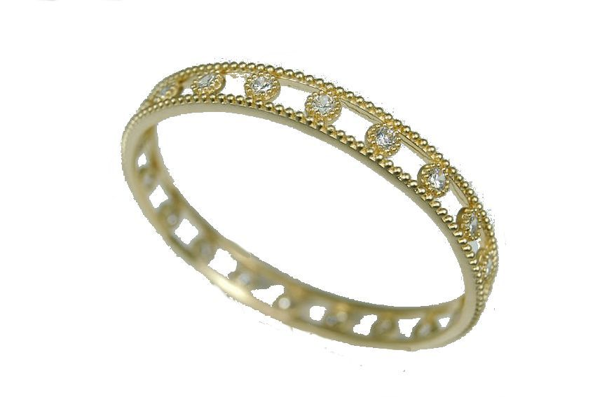 Capri Gold and Sparkle Round Bangle Bracelet in Sterling Silver, 18k plate and CZ