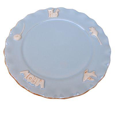 Cat Plate - Sky Blue