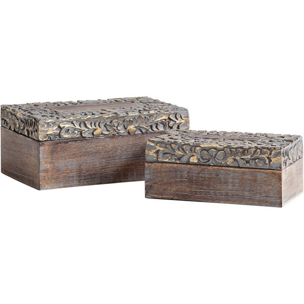 Theca 1 Wooden Boxes (Set of 2)