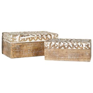 Theca II Wooden Boxes (Set of 2)