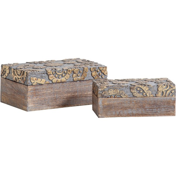 Theca III Wooden Boxes (Set of 2)