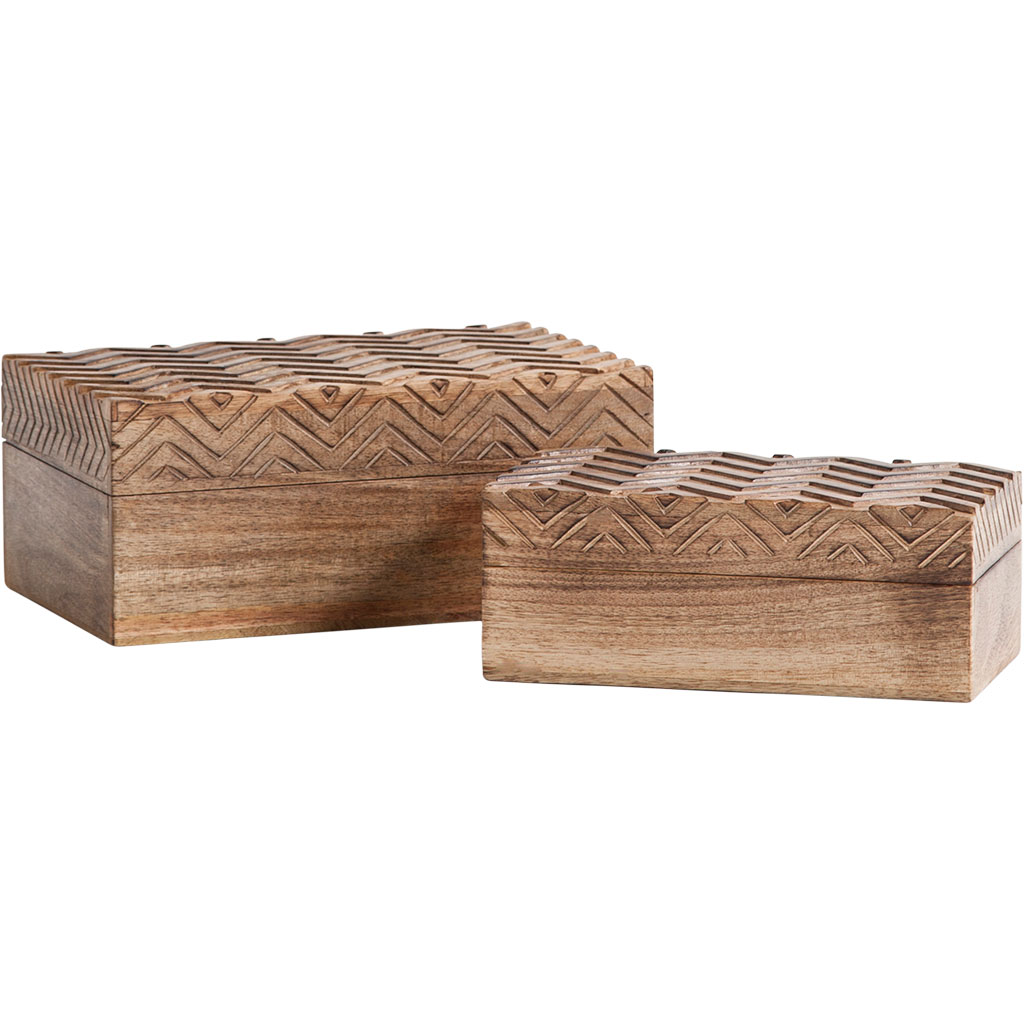 Theca V Wooden Boxes (Set of 2)
