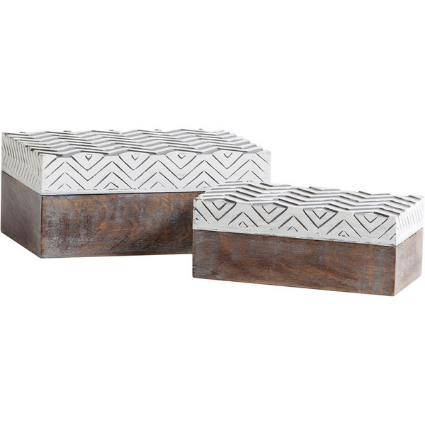 Theca VI Wooden Boxes (Set of 2)