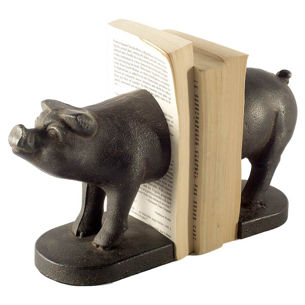 Wilbur I (Set of 2) Pig Book Ends