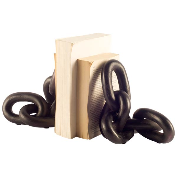 Catena Chain Link Book Ends (Set of 2)