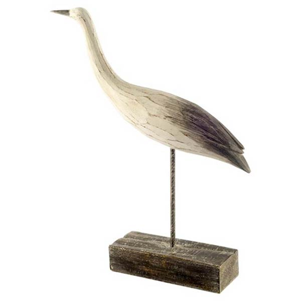Lebrun 1 Wooden Seashore Bird Sculpture (short)