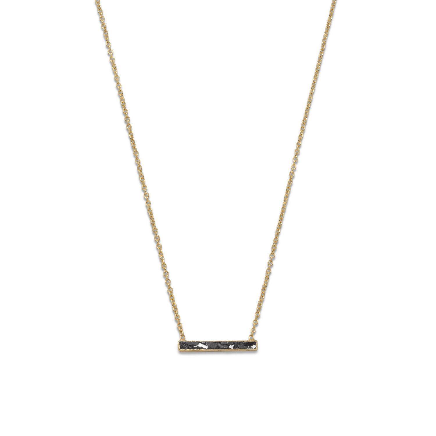 14 Karat Gold Plated Diamond Chip Necklace