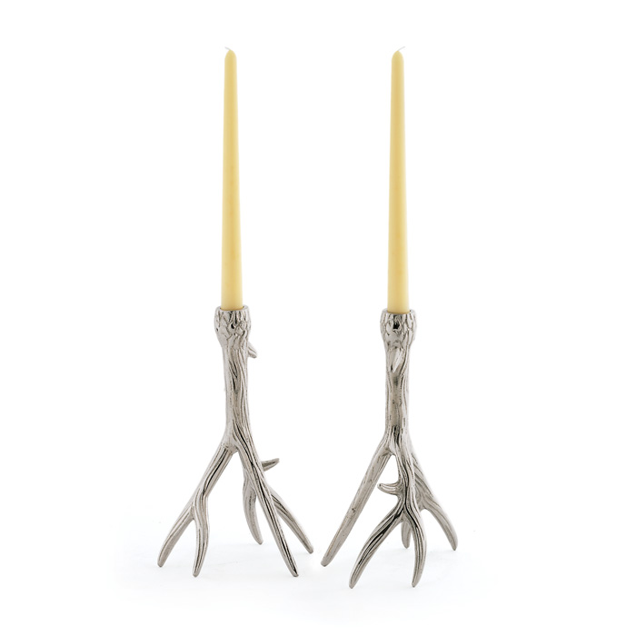 Pair of Outback Candleholders