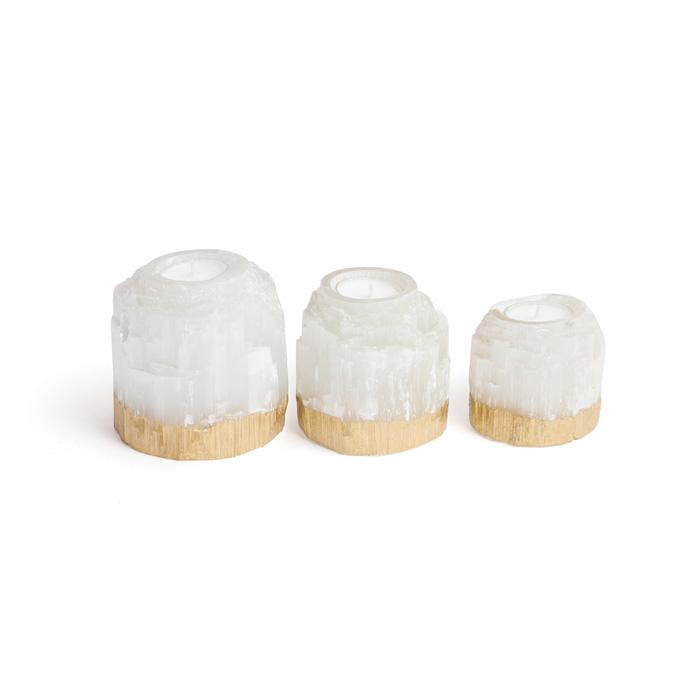Set of Three Dorado Rock Crystal Votives