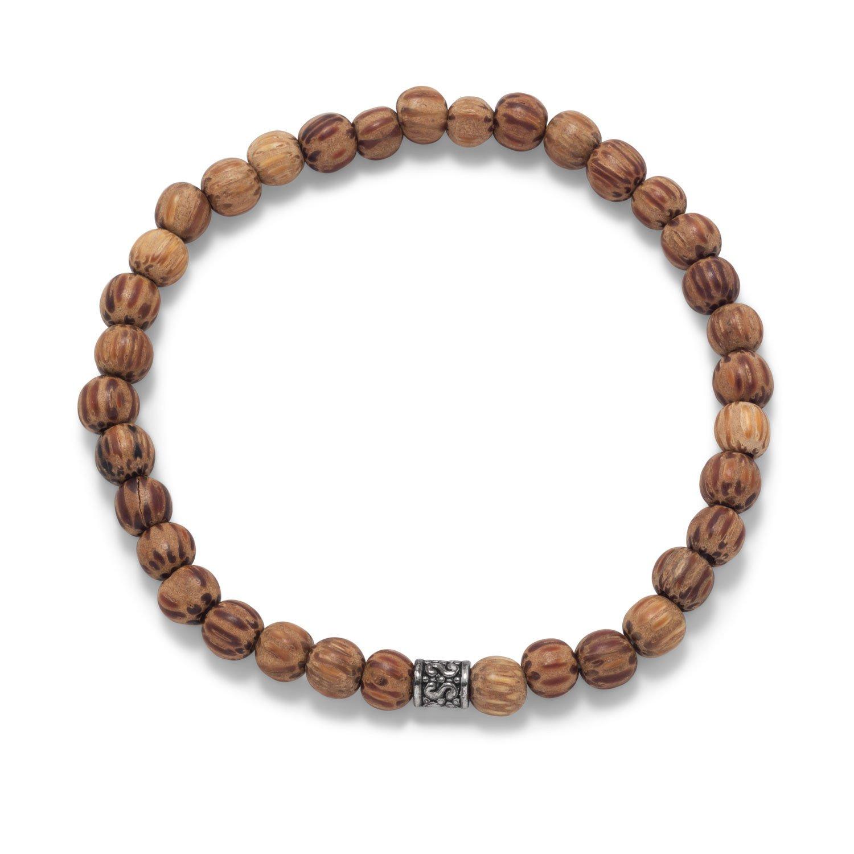 Palmwood Bead Fashion Stretch Bracelet