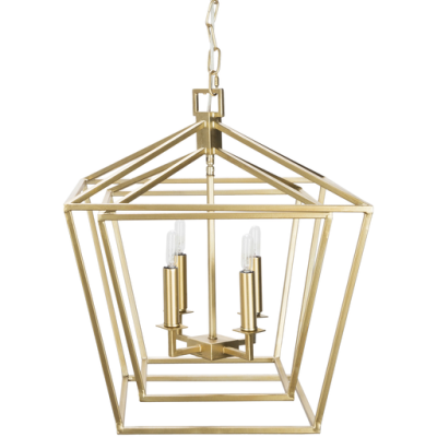 Bellair 2 Gold Ceiling Light