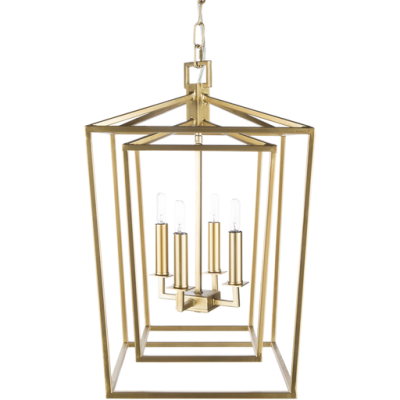 Bellair 3 Gold Ceiling Light