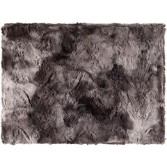 Felina Black Faux Fur Throw