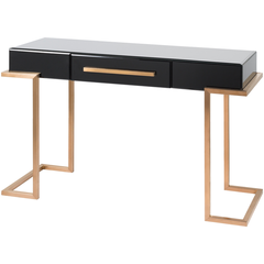 Saavedra Console - Black with Drawer