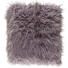 Kharaa Light Gray Faux Fur Throw