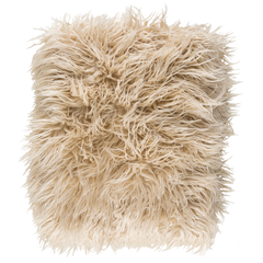 Kharaa Khaki Faux Fur Throw