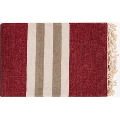 Troy Dark Red Throw