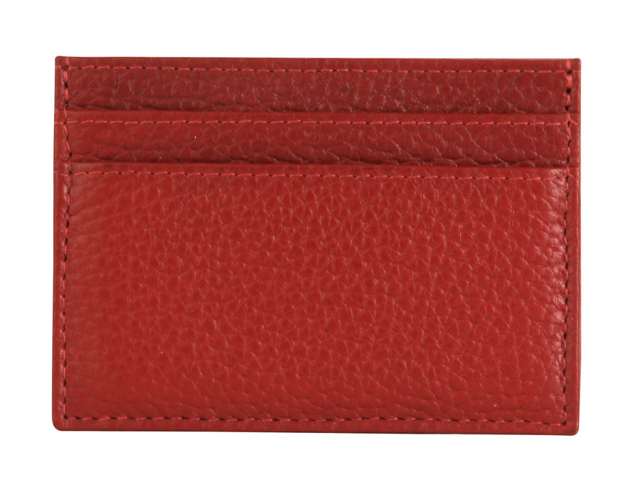 Business Card Pouch - Deep Red