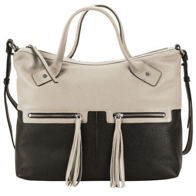 Urban Edge Satchel- Pearl Gray/ Black