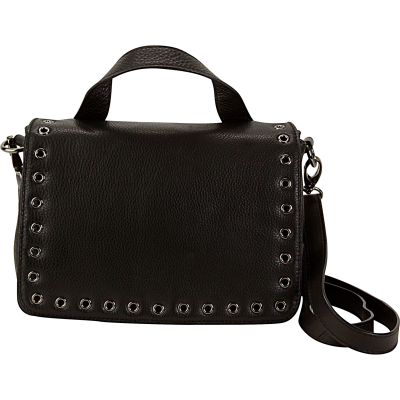 Grommet Messenger Bag - Black