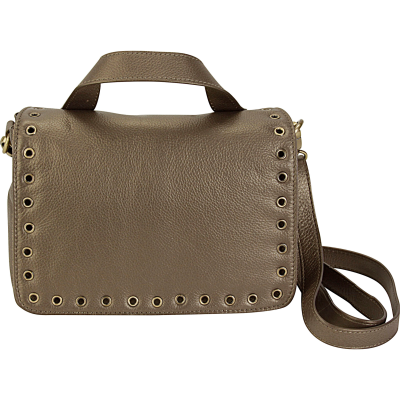 Grommet Messenger Bag - Bronze