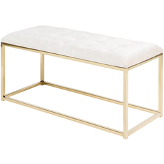 Rigsby White & Gold Bench