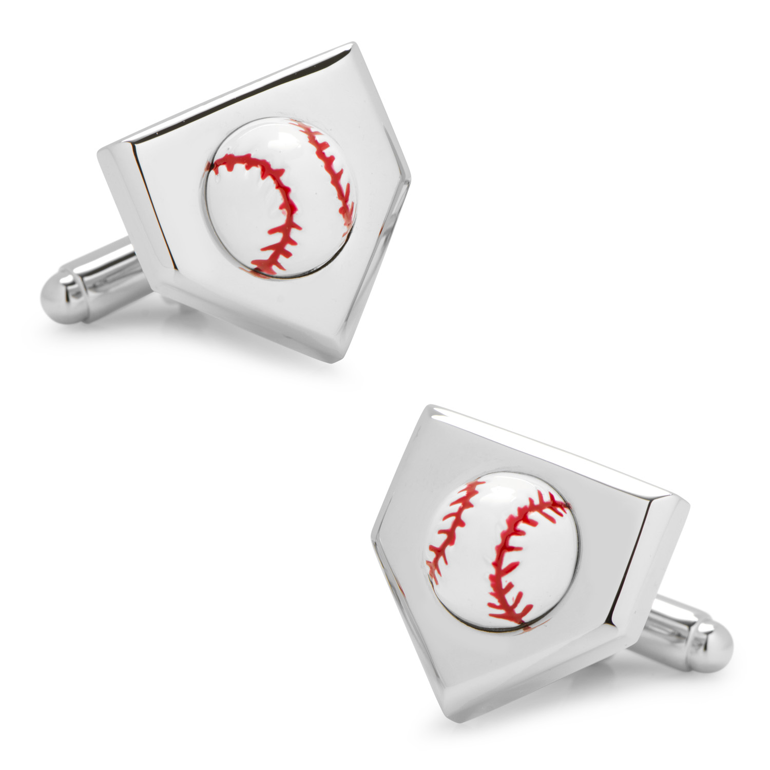 3D Baseball Home Plate Cufflinks