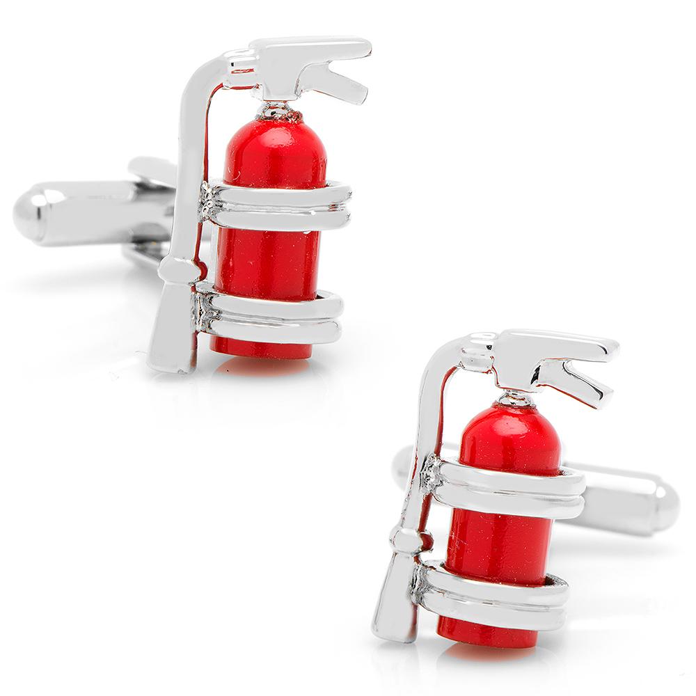 Enamel Fire Extinguisher Cufflinks