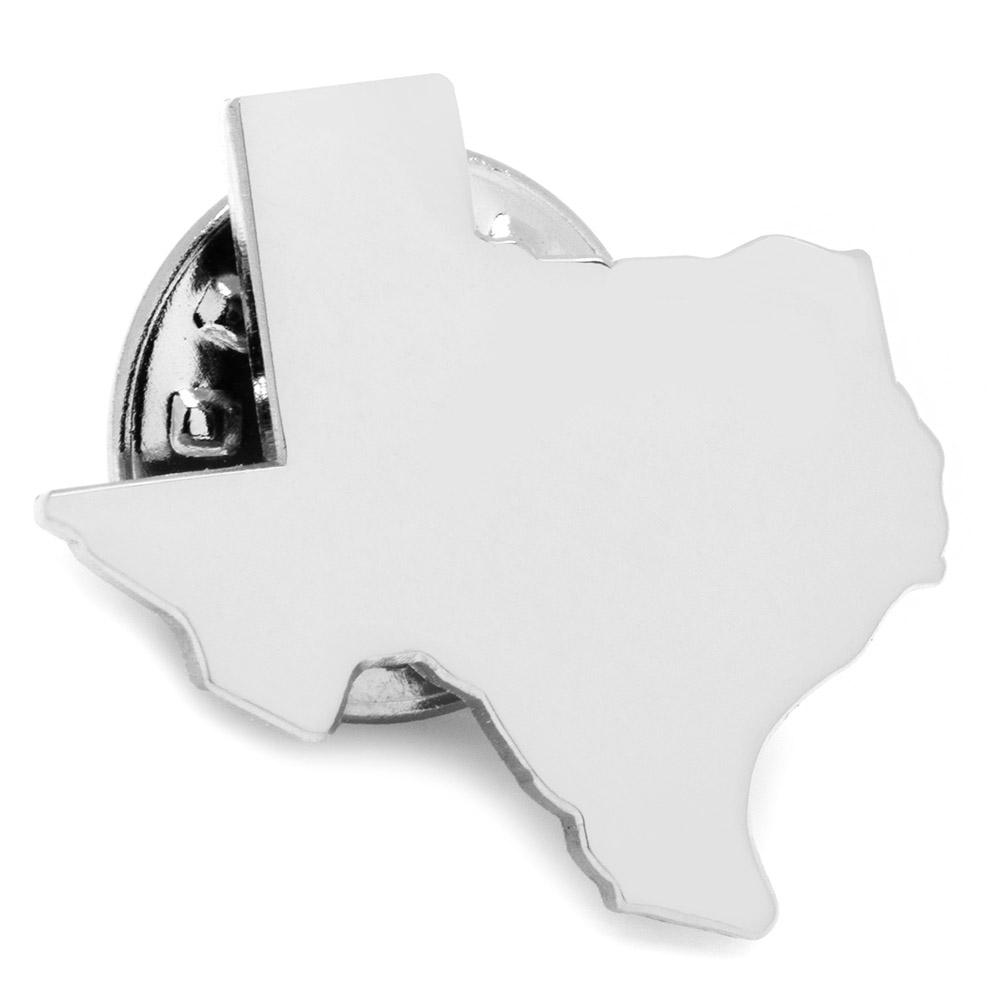 Texas Silver Lapel Pin
