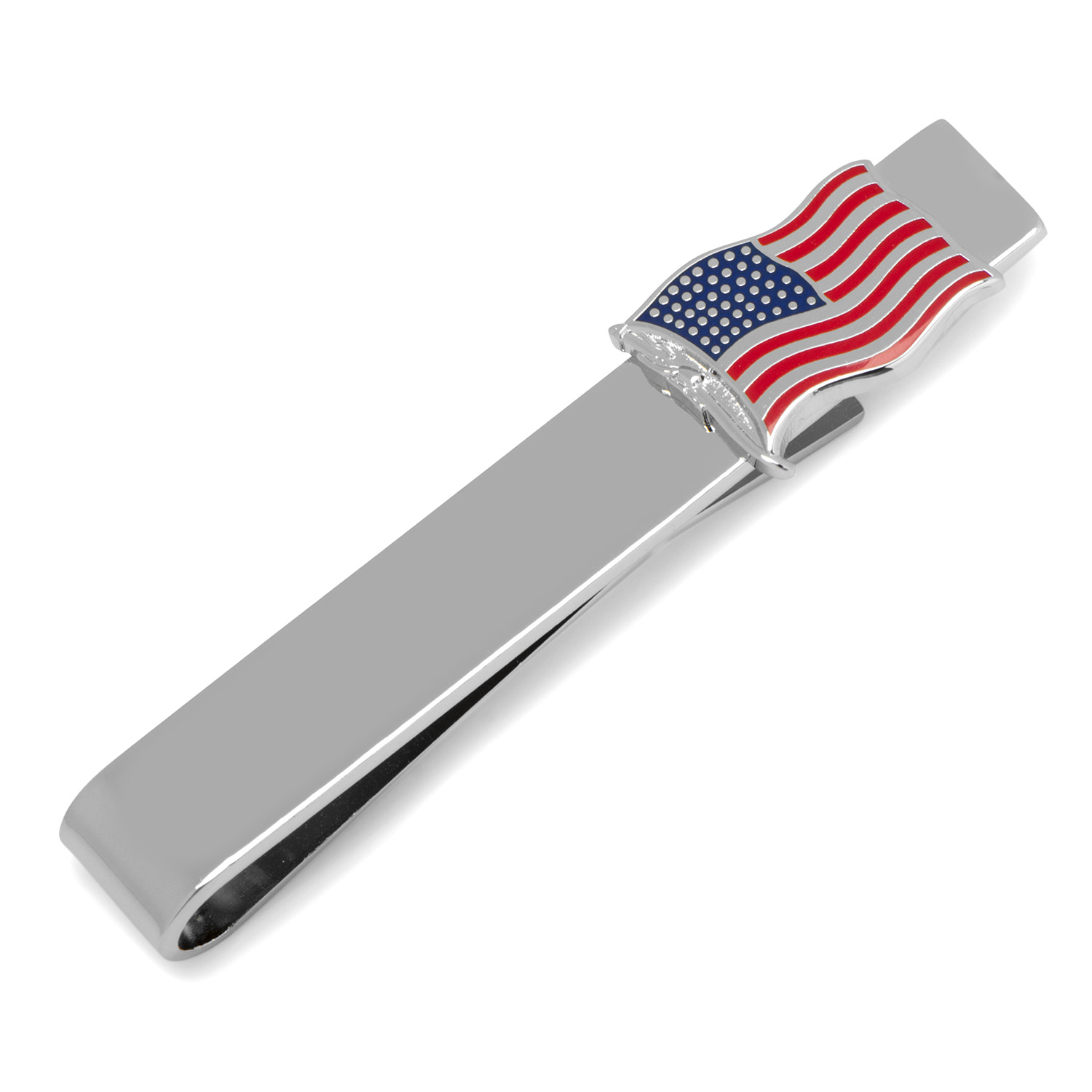 Waving American Flag Tie Bar
