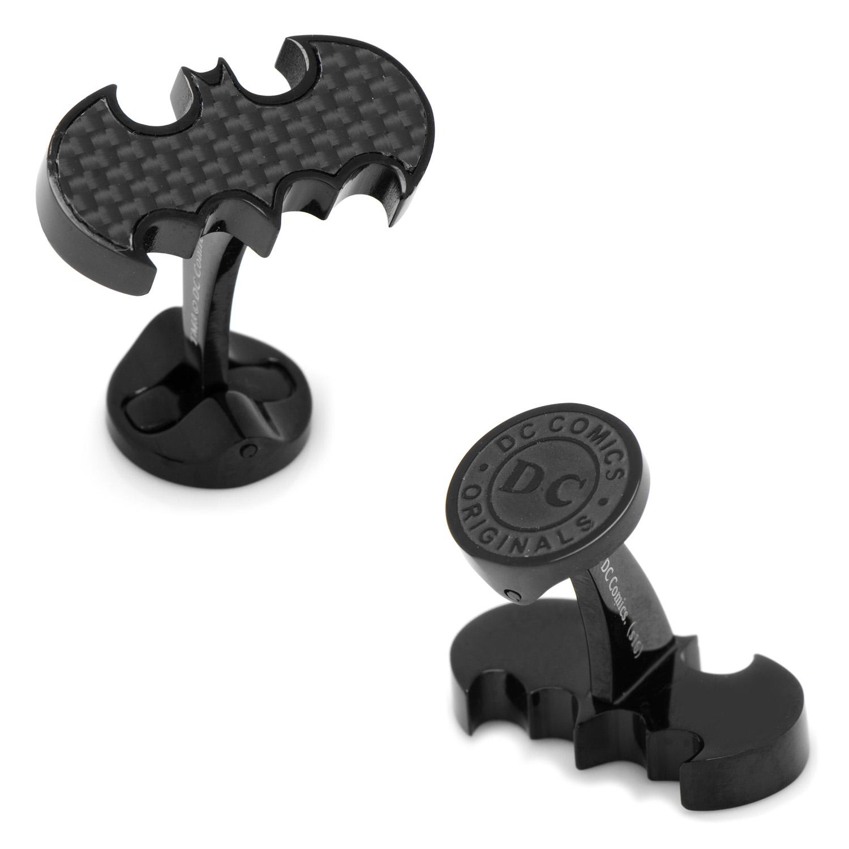 Stainless Steel Carbon Fiber Batman Cufflinks
