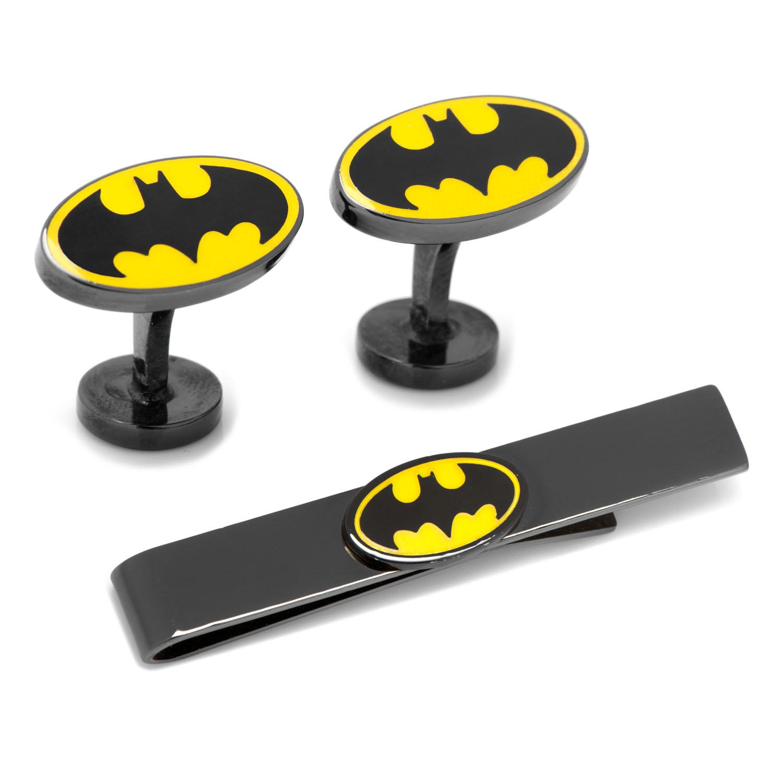 Batman Black Cufflinks and Tie Bar Gift Set