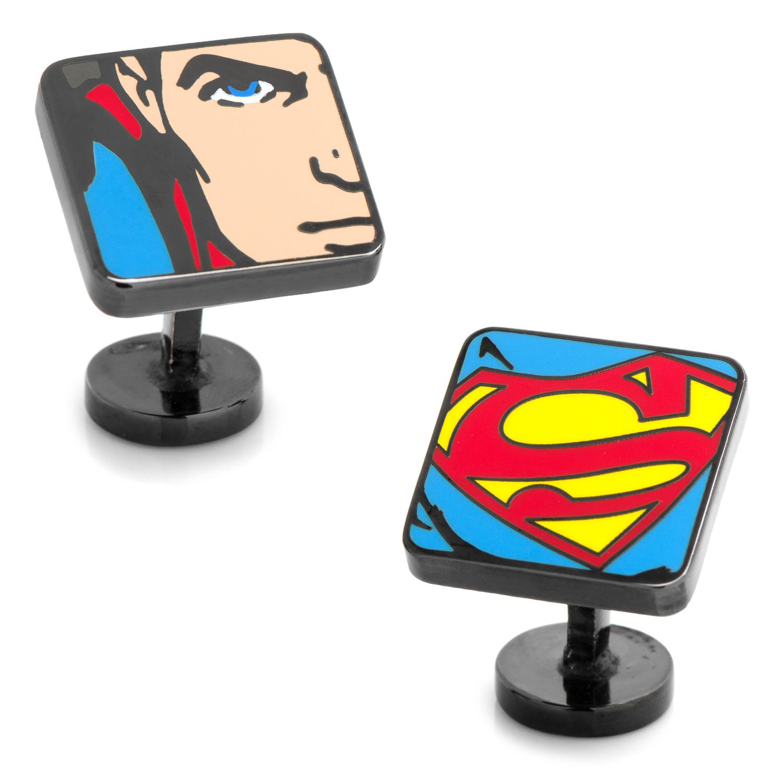 Superman Comic Squares Cufflinks