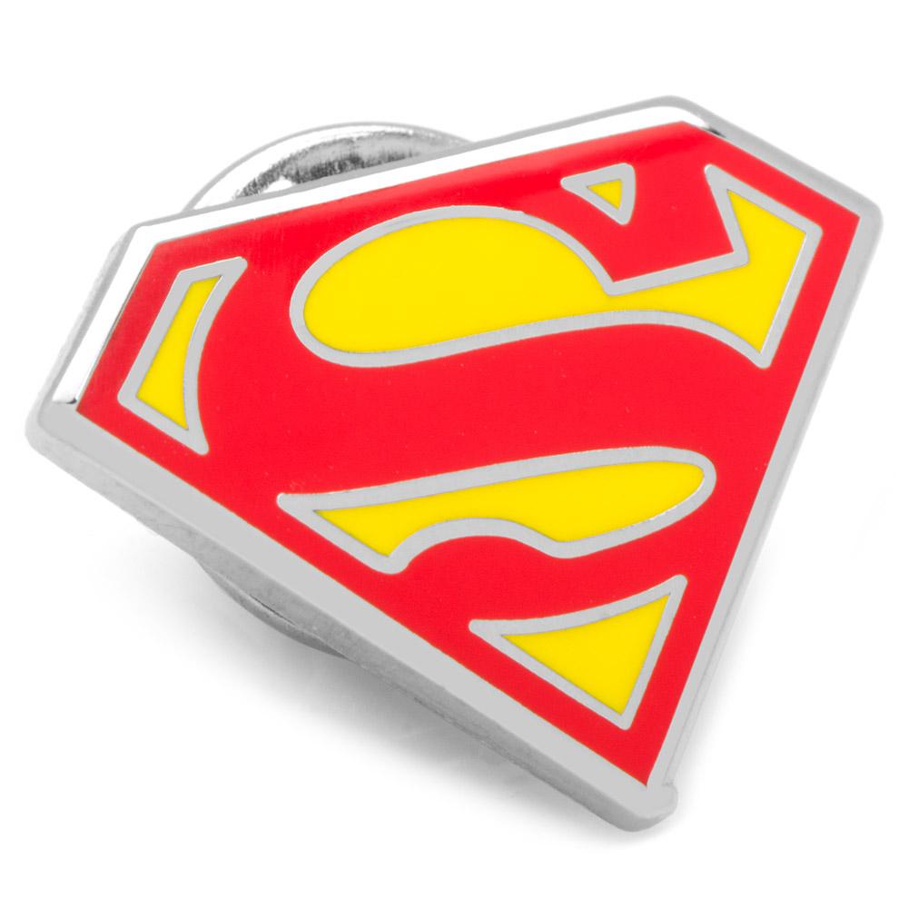 Enamel Superman Shield Lapel Pin
