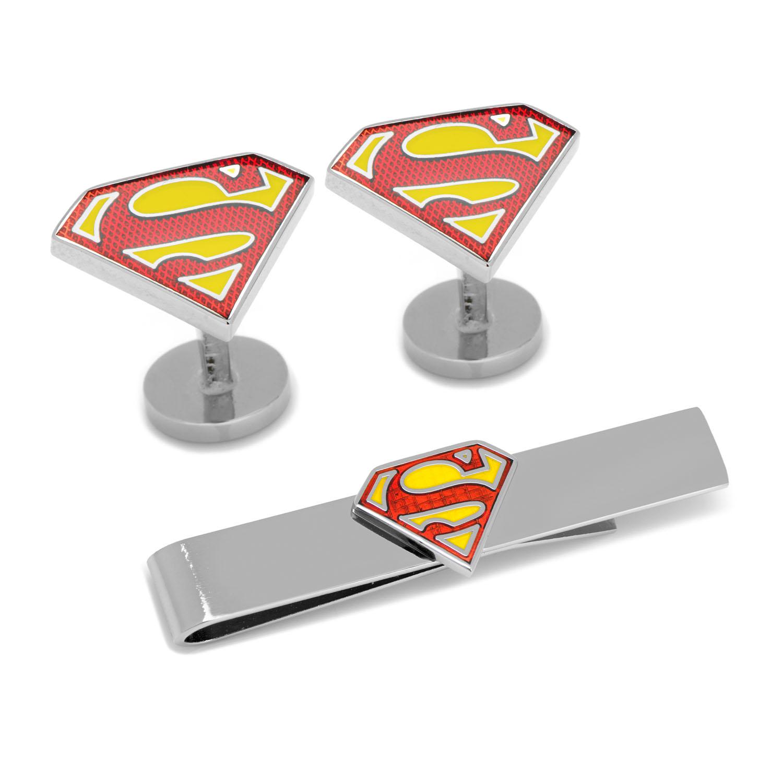 Superman Cufflinks and Tie Bar Gift Set
