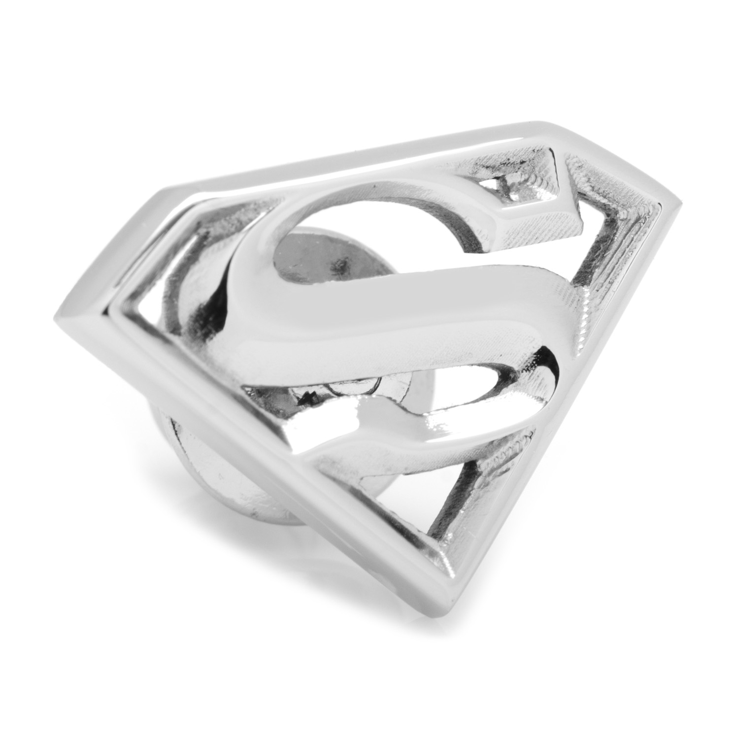 Stainless Steel Superman Lapel Pin