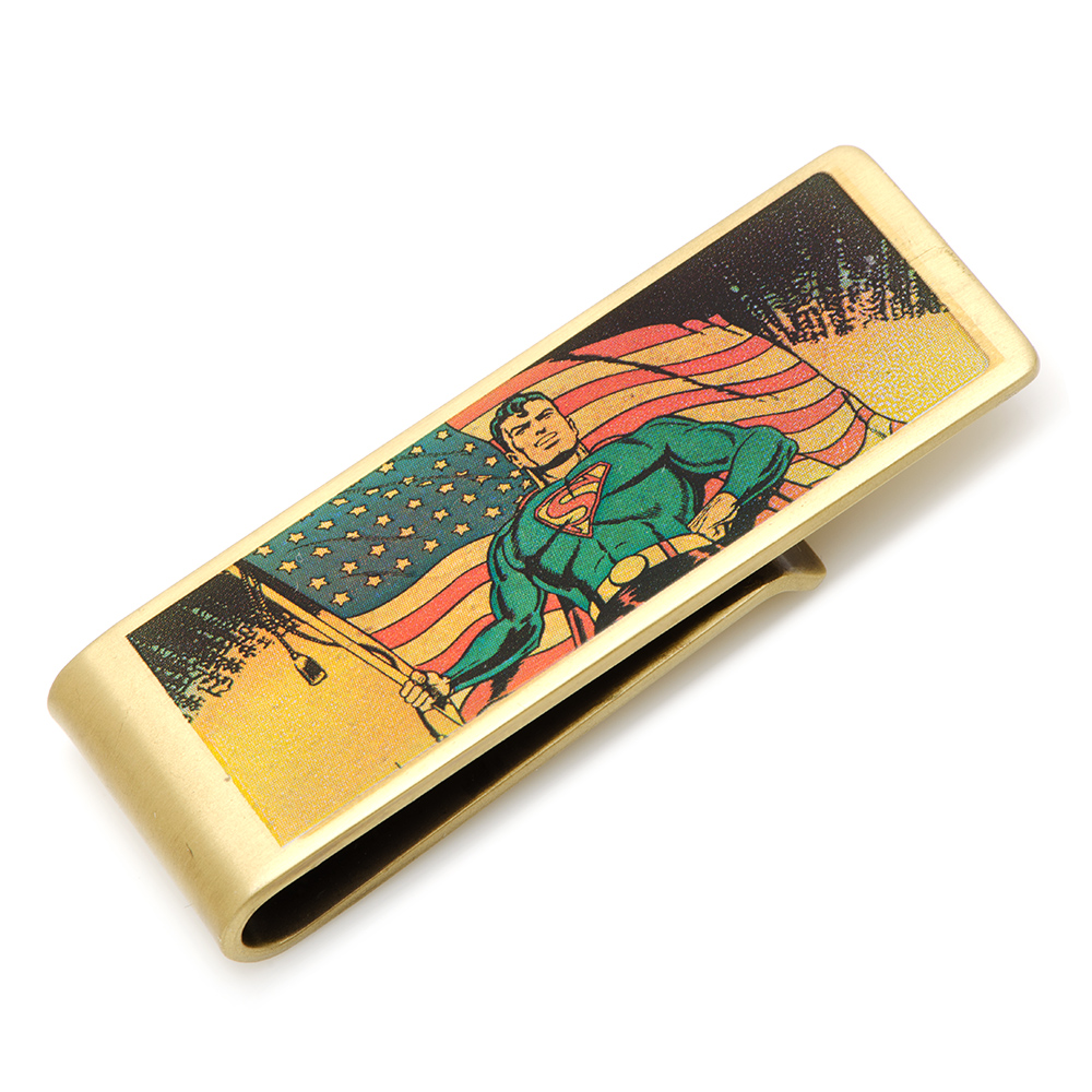 Vintage Patriotic Superman Money Clip