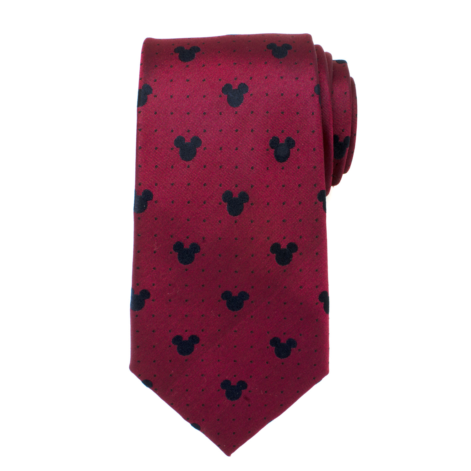 Mickey Mouse Red Pin Dot Men's Tie
