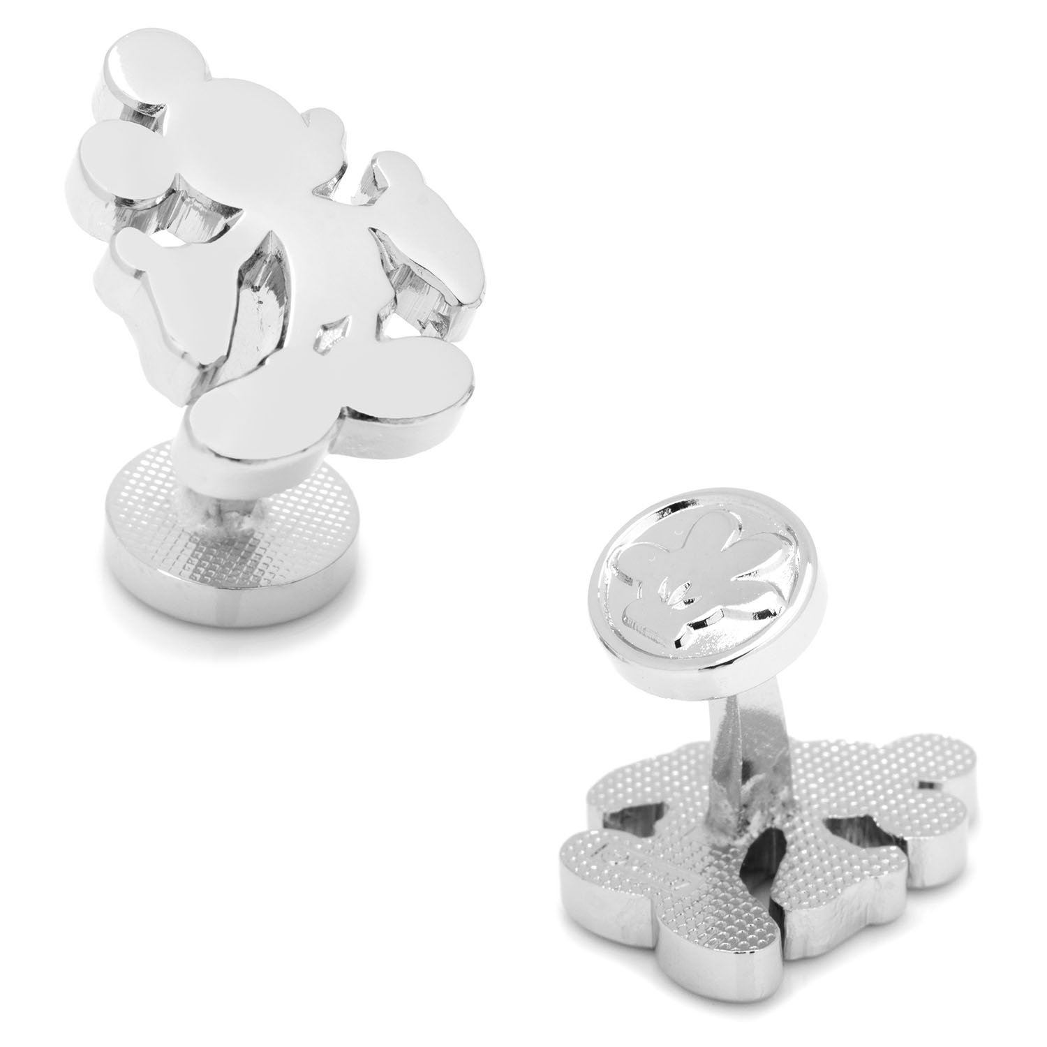 Silver Mickey Mouse Silhouette Cufflinks