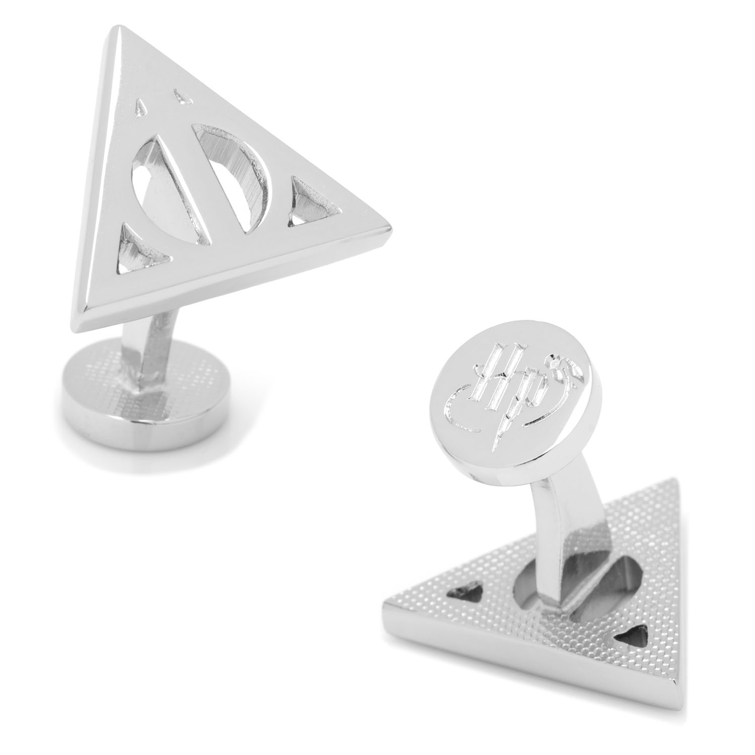 Harry Potter Silver Deathly Hallows Cufflinks