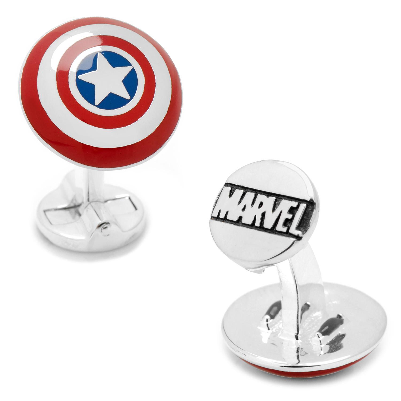 3D Captain America Shield Cufflinks