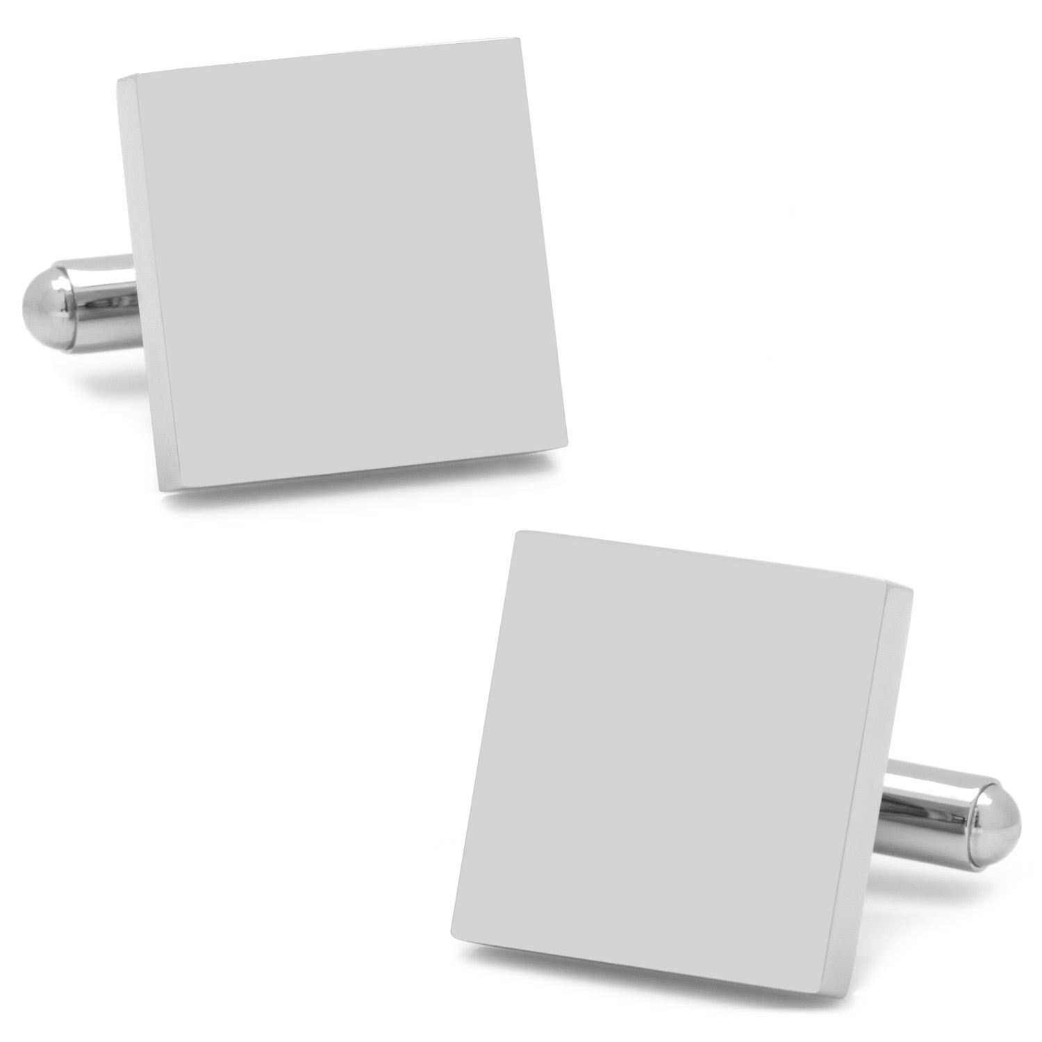 Stainless Steel Square Infinity Engravable Cufflinks