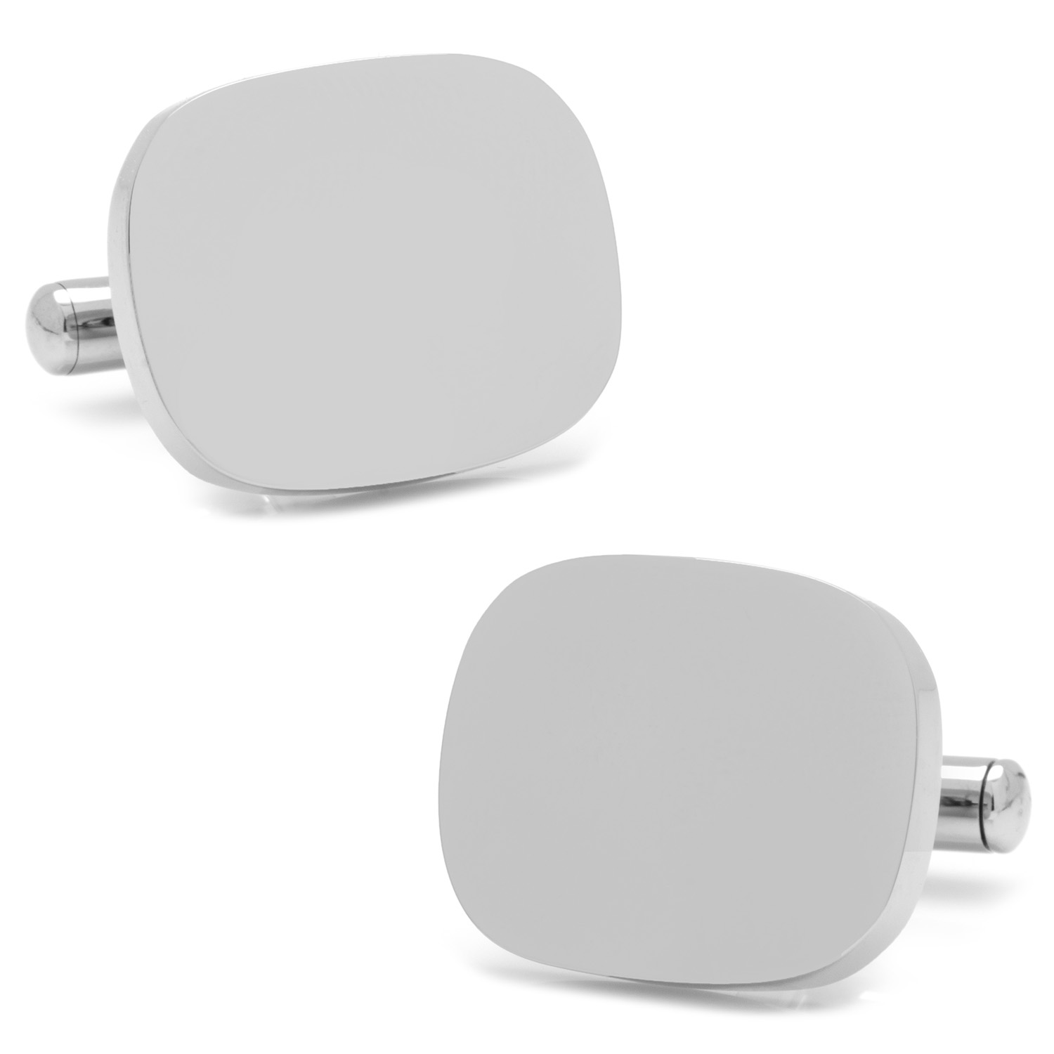 Stainless Steel Soft Rectangle Infinity Engravable Cufflinks