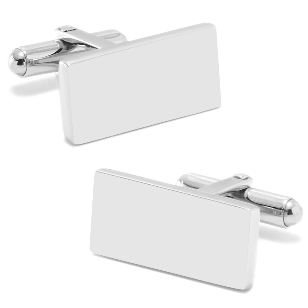 Stainless Steel Engravable Bar Cufflinks
