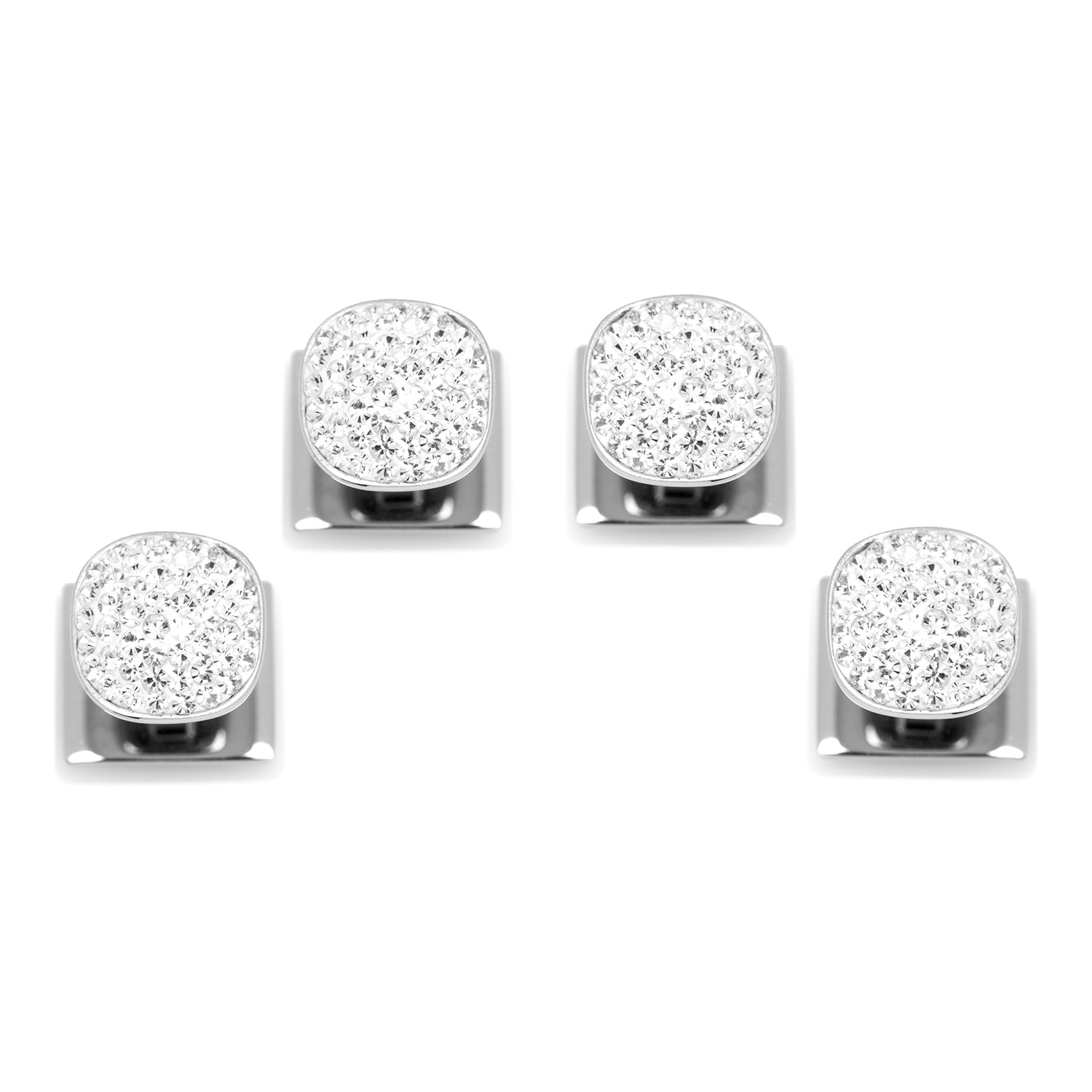 White Pave Crystal Studs