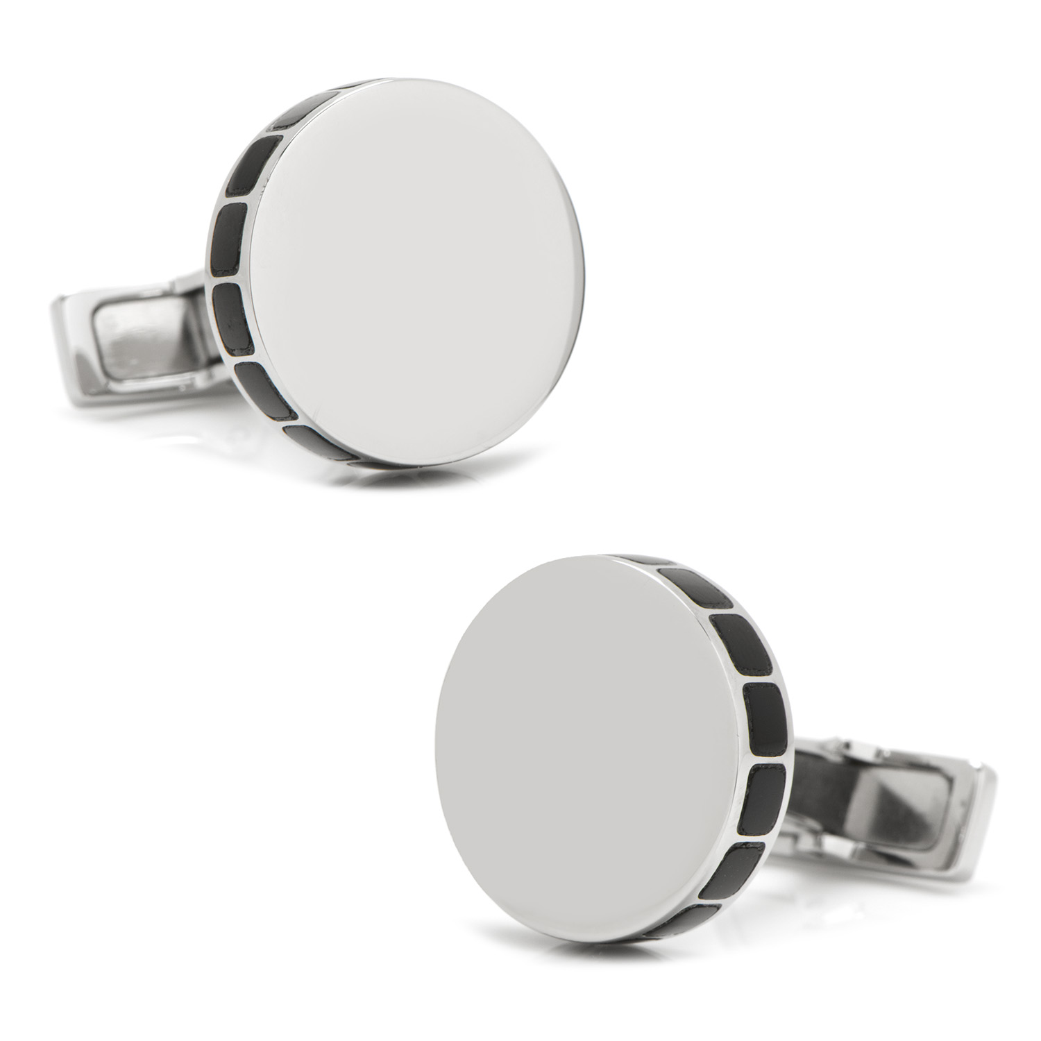 Stainless Steel Onyx Mosaic Engravable Cufflinks