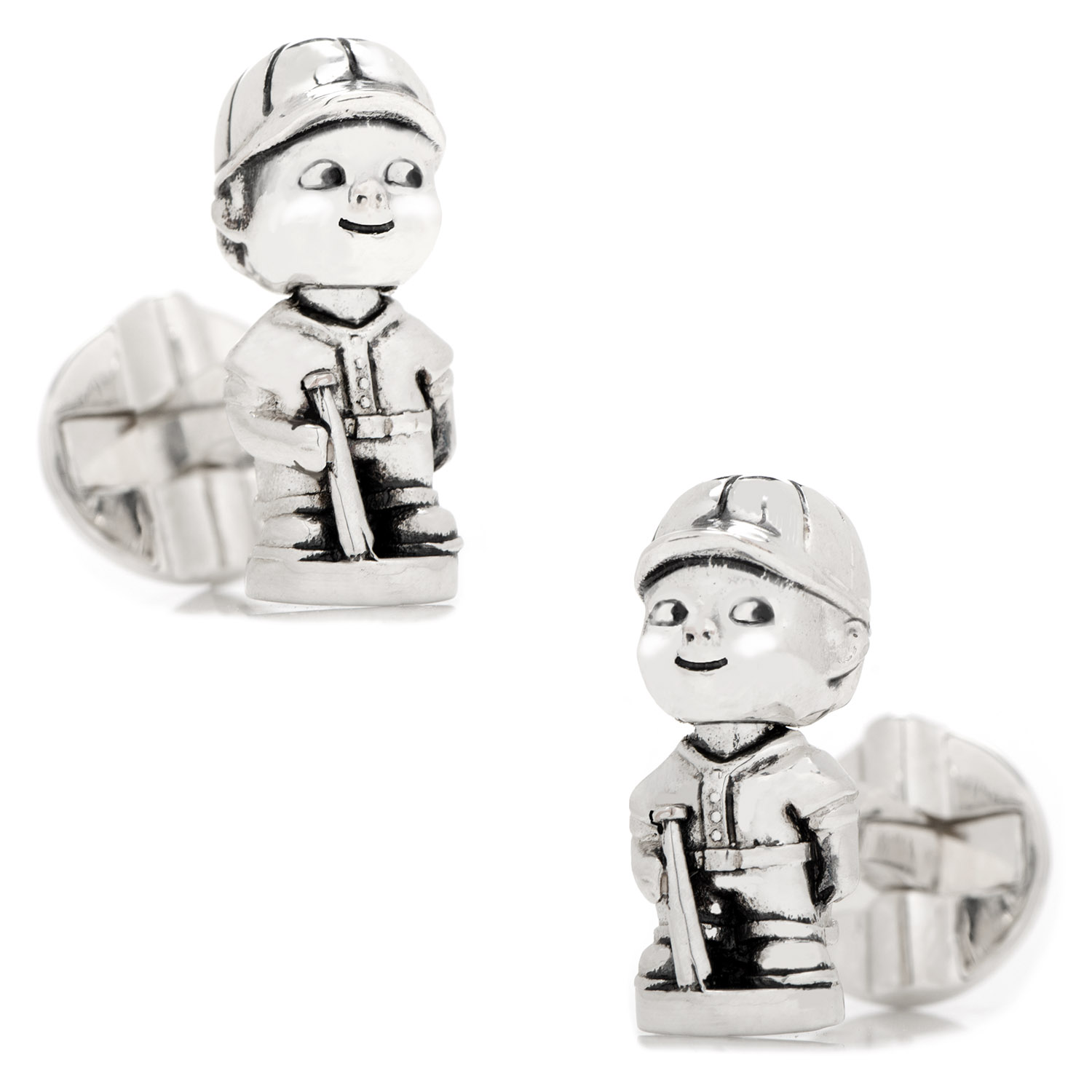 Baseball Bobblehead Cufflinks