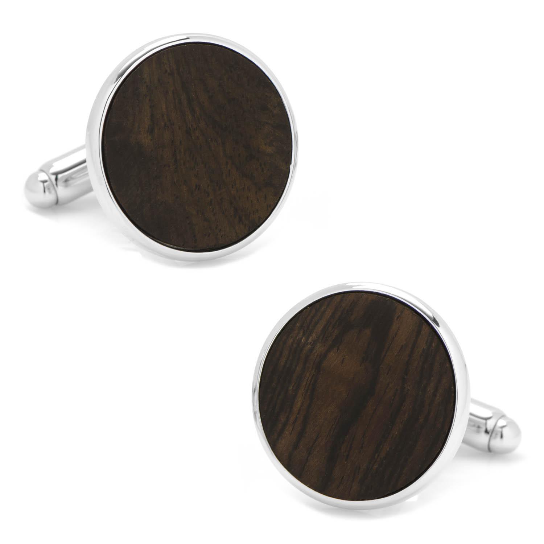 Black Stain Wood Cufflinks