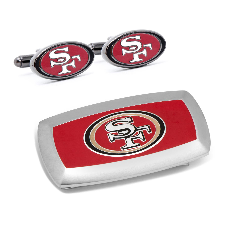 San Francisco 49er's Cufflinks and Cushion Money Clip Set